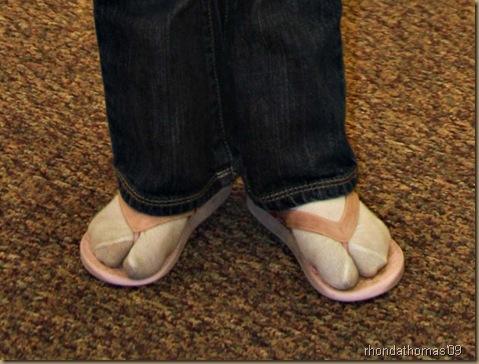 2 winter flip flops